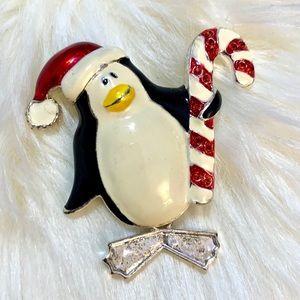 Holiday Penguin Brooch 🐧 ❄️